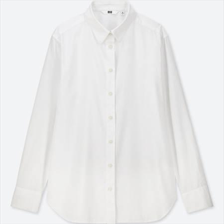 ユニクロのソフトコットンシャツ(長袖)のホワイト