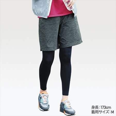 ユニクロのドライEXウルトラストレッチハーフパンツを履いている女性のコーディネート例