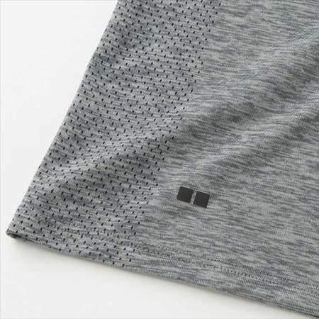 ユニクロのドライEXクルーネックT(半袖)のサイドメッシュ部分のアップ