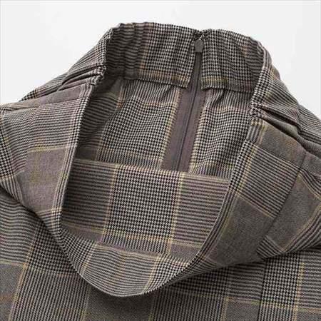 ユニクロのチェックナロースカート(ハイウエスト・丈標準71~74cm)のウエスト部分