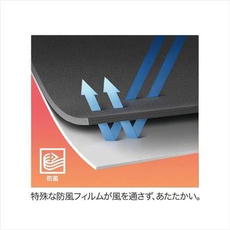 ユニクロの防風ウォームイージーパンツ(丈標準71~73cm)の生地が風を通さない仕組みの説明図