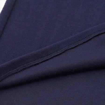 ユニクロのヒートテックストレッチフリースクルーネックT(長袖)の表地と裏地のアップ