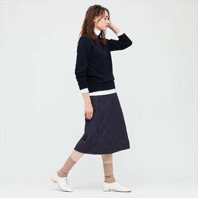 ユニクロの防風ウォームイージースカート(丈短め62~66cm)