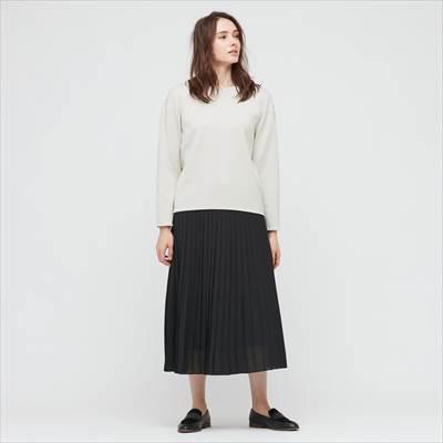 ユニクロのシフォンプリーツロングスカート(丈標準80~84cm)